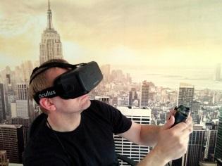 Michael Kölling mit der Oculus Rift